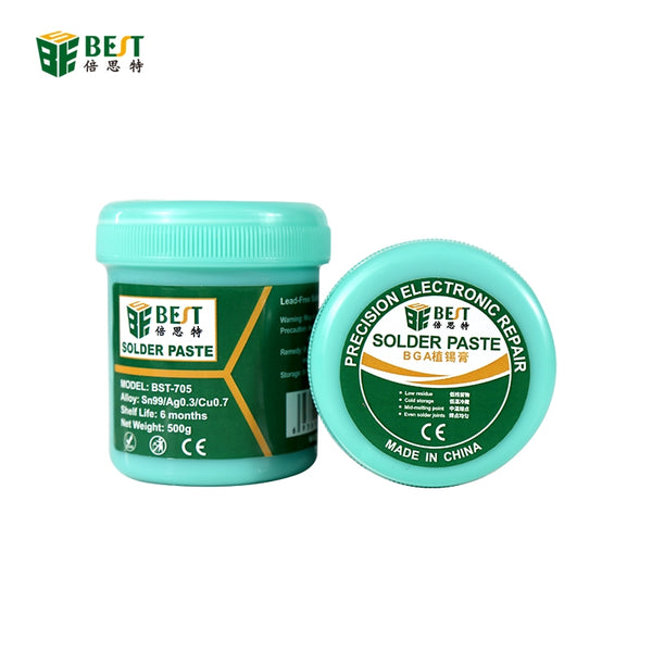 BST-705 500g Strong Adhesive Lead Free Silver With Silver Tin Soldering Flux Welding Solder Paste