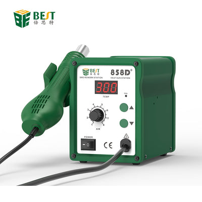 BST-858D+ Factory Direct High Quality Soldering Desoldering Hot Air Gun Rework Station for iPhone/Smartphone Mobile Repair Tool