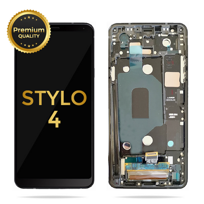 LG Stylo 4 / Stylo 4 Plus Replacement LCD Display Touch Screen Glass Lens Digitizer Assembly with Frame (Black)