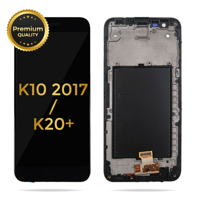 LG K10 2017 / K20 / K20 Plus LCD Display Touch Screen Glass Lens Digitizer Housing Assembly (Black)