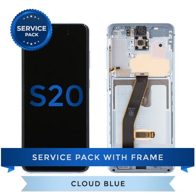Service Pack - OLED Screen Assembly for Samsung Galaxy S20, Cloud Blue