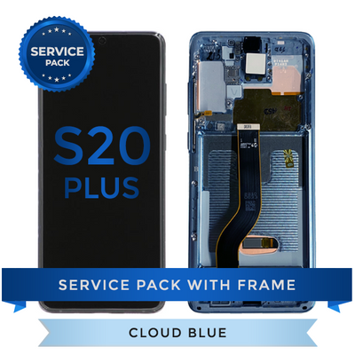 Service Pack - OLED Screen Assembly for Samsung Galaxy S20 Plus, Cloud Blue