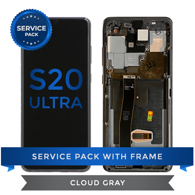 Service Pack - OLED Screen Assembly for Samsung Galaxy S20 Ultra, Cloud Gray