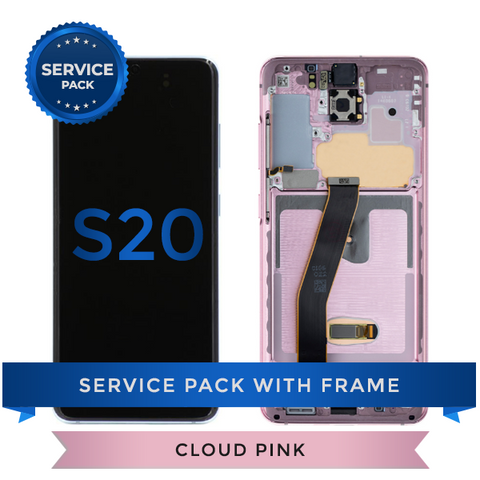 Service Pack - OLED Screen Assembly for Samsung Galaxy S20, Cloud Pink