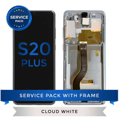Service Pack - OLED Screen Assembly for Samsung Galaxy S20 Plus, Cloud White