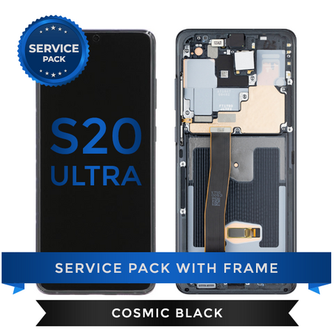 Service Pack - OLED Screen Assembly for Samsung Galaxy S20 Ultra, Cosmic Black