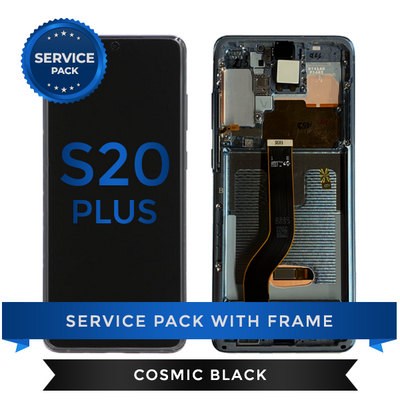 Service Pack - OLED Screen Assembly for Samsung Galaxy S20 Plus, Cosmic Black