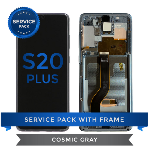 Service Pack - OLED Screen Assembly for Samsung Galaxy S20 Plus, Cosmic Gray