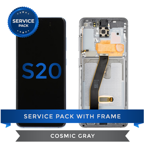 Service Pack - OLED Screen Assembly for Samsung Galaxy S20, Cosmic Gray