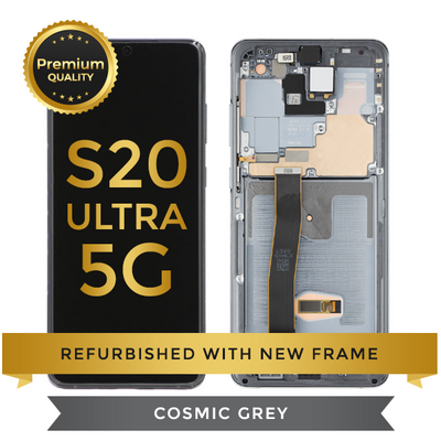 Replacement Samsung Galaxy S20 Ultra LCD Digitizer Assembly, Cosmic Gray