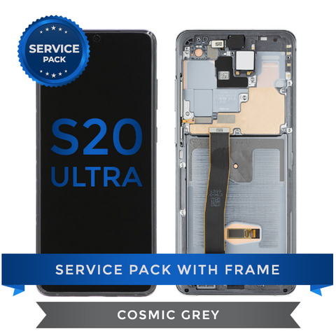 Service Pack - OLED Screen Assembly for Samsung Galaxy S20 Ultra, Cosmic Grey
