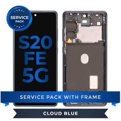 Service Pack - OLED Screen Assembly for Samsung Galaxy S20 FE (Cloud Blue)