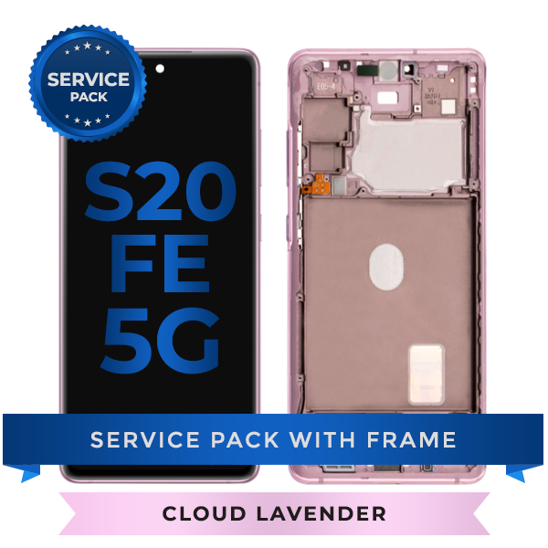 Service Pack - OLED Screen Assembly for Samsung Galaxy S20 FE (Cloud Lavender)