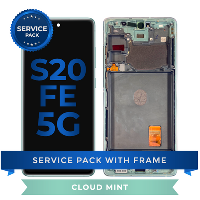 Service Pack - OLED Screen Assembly for Samsung Galaxy S20 FE (Cloud Mint)