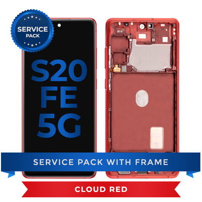 Service Pack - OLED Screen Assembly for Samsung Galaxy S20 FE (Cloud Red)