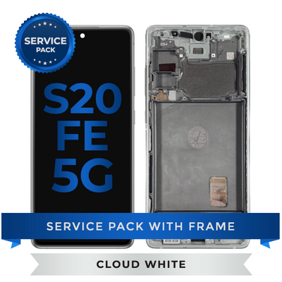 Service Pack - OLED Screen Assembly for Samsung Galaxy S20 FE (Cloud White)