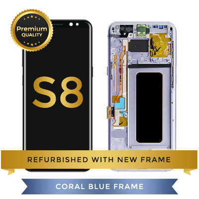 Samsung Galaxy S8 LCD Digitizer Assembly with Frame, Blue
