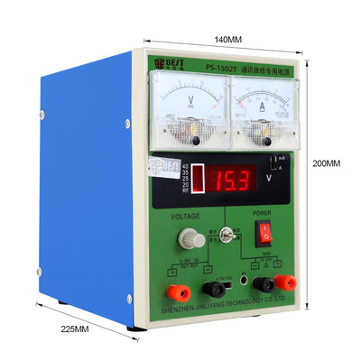 DC regulated power supply for labs 15V 2A repairing power supply BST-1502T