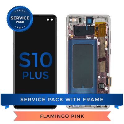 Service Pack - OLED Screen Assembly for Samsung Galaxy S10 Plus, Pink