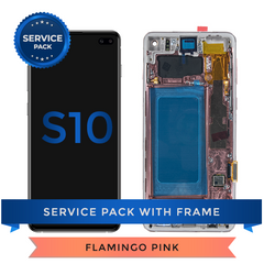 Service Pack - OLED Screen Assembly for Samsung Galaxy S10, Pink