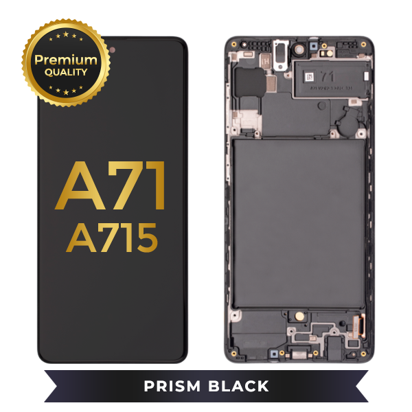 OLED Assembly With Frame For Samsung Galaxy A71 (A715 / 2020) (Prism Black)