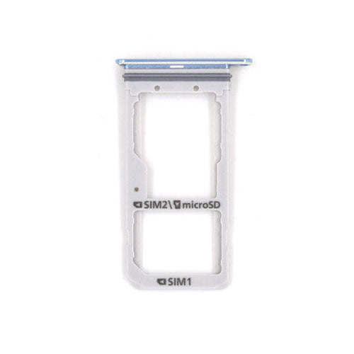 Galaxy S7 Edge SIM & SD Card Tray Holder - (CORAL BLUE)