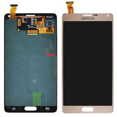 Genuine Gold Samsung Galaxy Note 4 LCD & Touch Screen Glass Digitizer Assembly