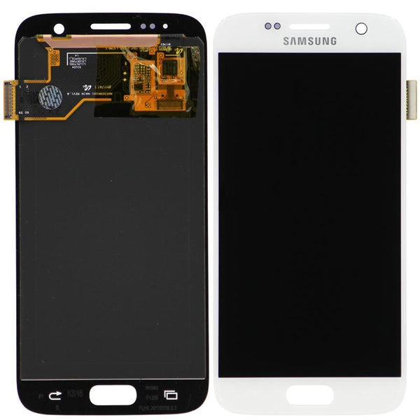 Genuine LCD Screen & Digitizer Assembly, White, for Samsung Galaxy S7