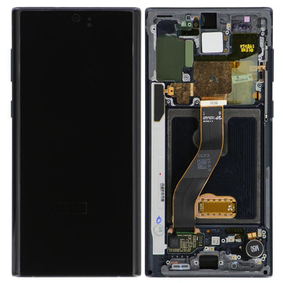 Genuine Samsung Galaxy Note 10 LCD Digitizer display Assembly with front housing, Black