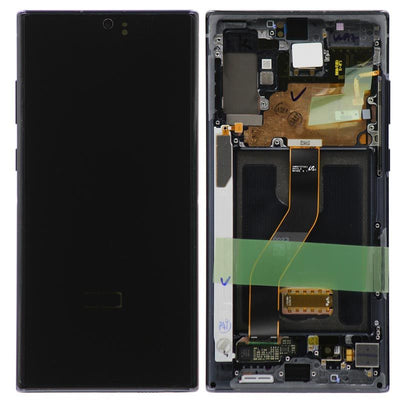 Genuine Samsung Galaxy Note 10 Plus LCD Digitizer display Assembly with front housing, Black
