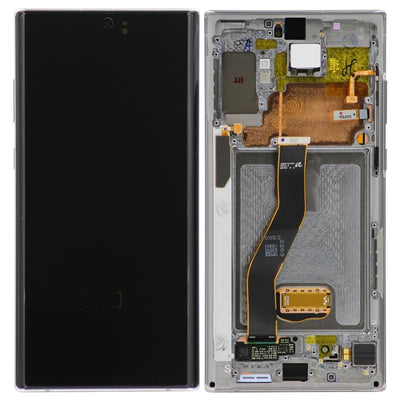 Genuine Samsung Galaxy Note 10 Plus LCD Digitizer display Assembly with front housing, Silver