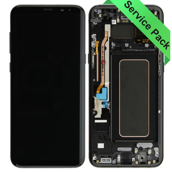 Genuine Samsung Galaxy S8 Plus LCD Digitizer display assembly with front housing, Black