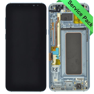 Genuine Samsung Galaxy S8 Plus LCD Digitizer display assembly with front housing, Blue