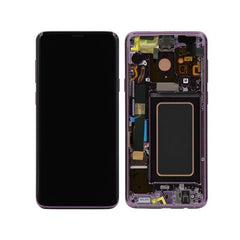 Genuine Samsung Galaxy S9 Plus LCD Digitizer Display assembly with front housing, Purple