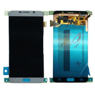 Genuine Silver Samsung Galaxy Note 5 LCD & Touch Screen Glass Digitizer Assembly