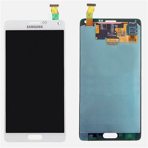 Genuine White Samsung Galaxy Note 4 LCD & Touch Screen Glass Digitizer Assembly