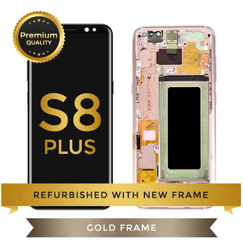 Refurbished Samsung Galaxy S8 Plus LCD Digitizer display assembly with front housing, Gold