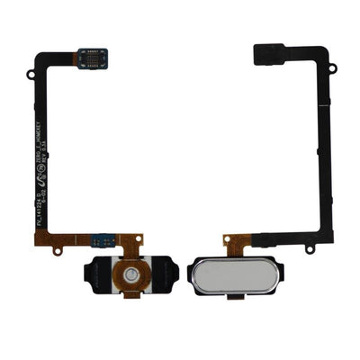 Galaxy S6 Edge Home Button with Flex Cable (White)