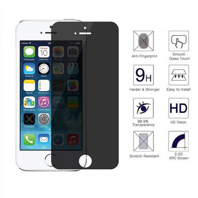 iPhone 5S/SE 0.4mm 2.5D Tempered Glass Screen Protector (Privacy) (4161676378176)