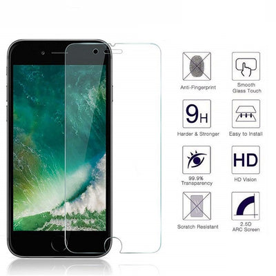 iPhone 6/7/8 0.3mm 2.5D Tempered Glass Screen Protector (Clear) (4162677407808)