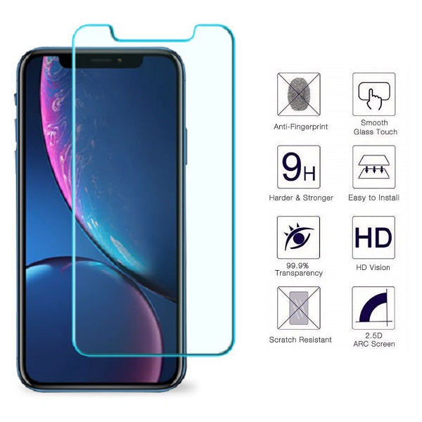 iPhone XR 0.33mm 2.5D Premium Tempered Glass Screen Protector (Clear) (4169029255232)