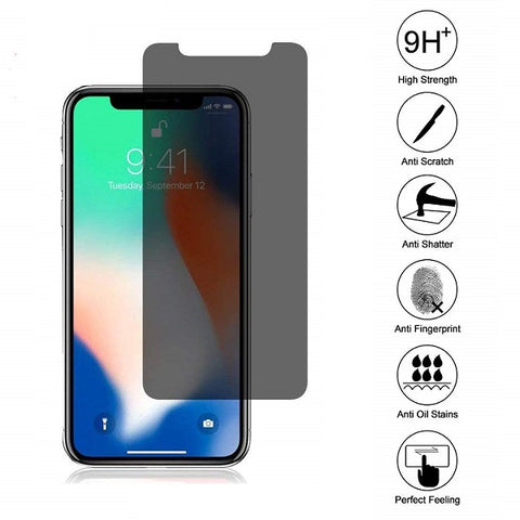 iPhone X/XS 0.4mm 2.5D Tempered Glass Screen Protector (Privacy) (4168410693696)