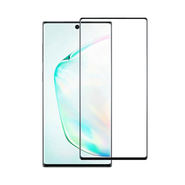 SAMSUNG GALAXY NOTE 10 PLUS - FULL COVERED EDGE TO EDGE - 0.33MM PREMIUM TEMPERED GLASS SCREEN PROTECTOR (4184309530688)