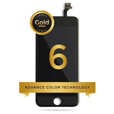 iPhone 6 LCD Digitizer Assembly Gold Series Premium Quality (Black)