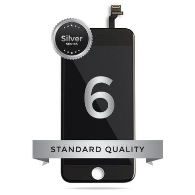 IPhone 6 LCD Digitizer Assembly Silver Series Standard Quality (Black)