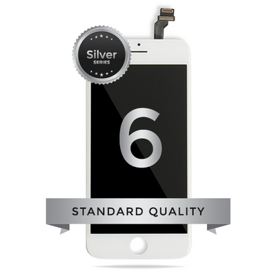 Phone 6 LCD Digitizer Assembly Silver Series Standard Quality (White)