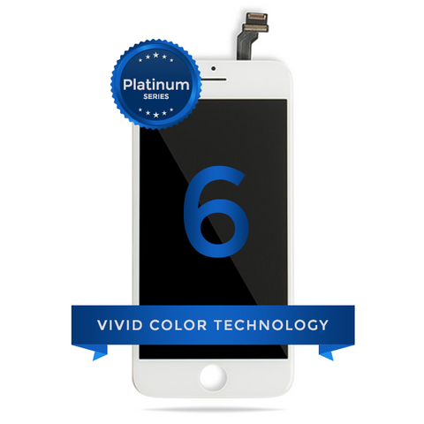 iPhone 6 LCD Digitizer Assembly Platinum Quality (White)
