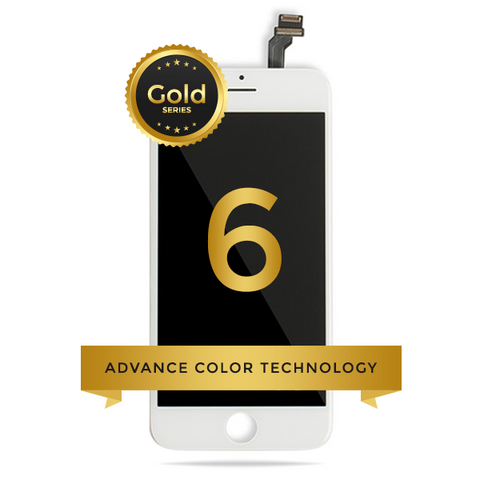 iPhone 6 LCD Digitizer Assembly Gold Series Premium Quality (White)