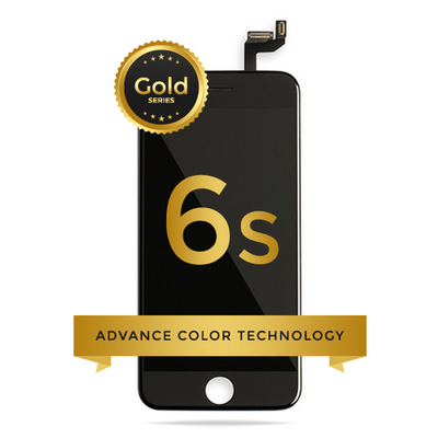 iPhone 6S LCD Digitizer Assembly Gold Series Premium Quality Retail Pack (Black)