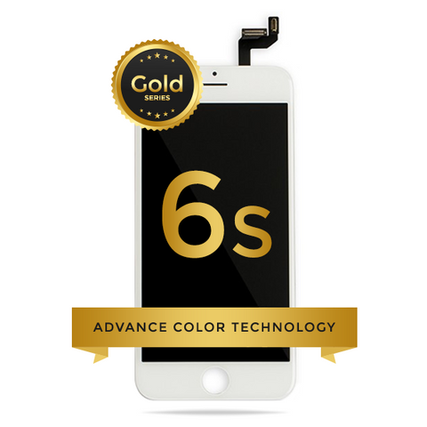 iPhone 6S LCD Digitizer Assembly Gold Series Premium Quality Retail Pack (White)